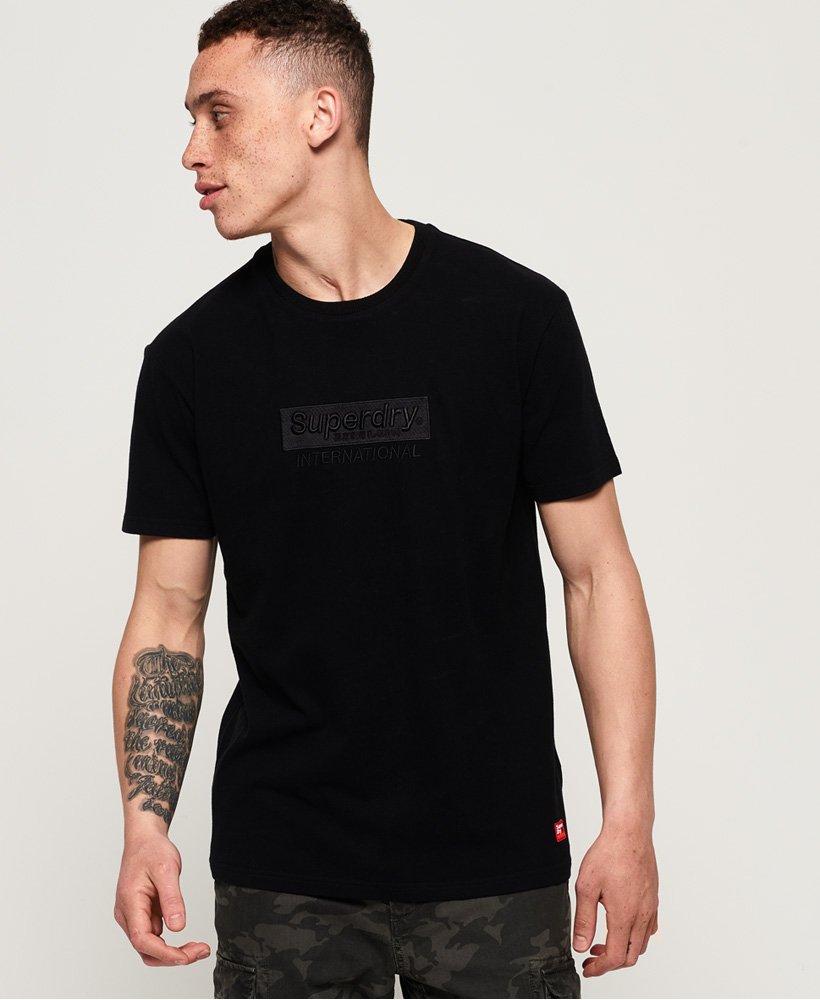 Black Superdry Men/'s International Youth Box Fit T-Shirt