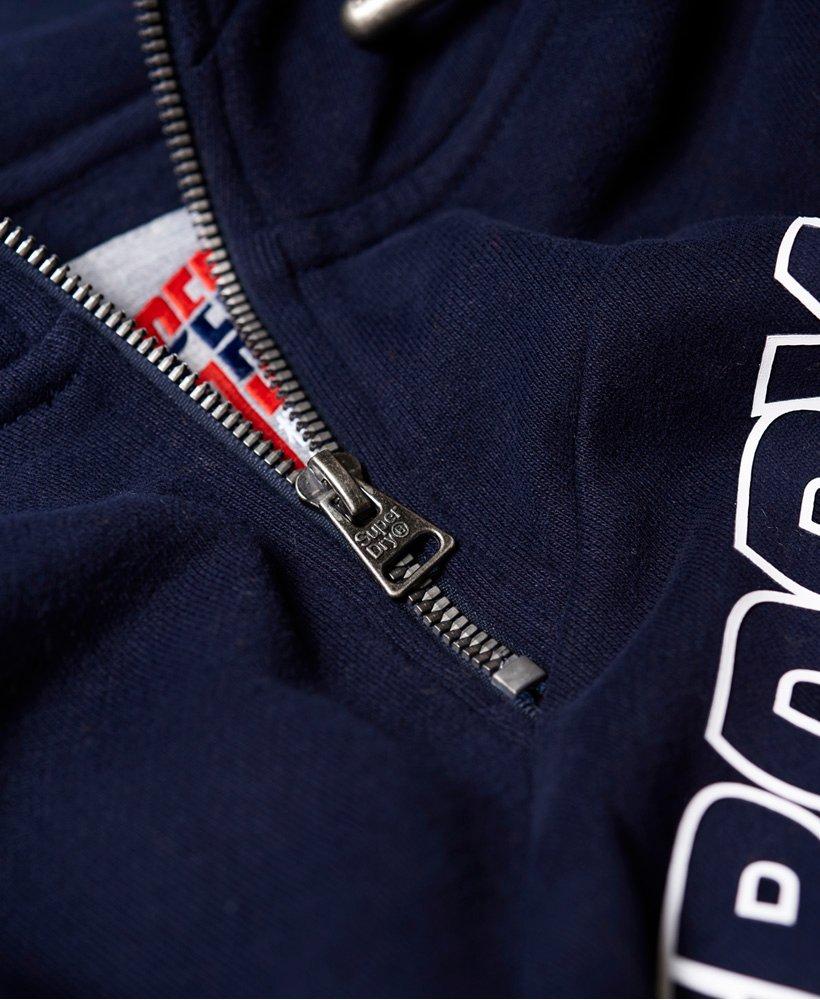 Superdry Sweat à capuche à demi zippé Racer Print Scuba