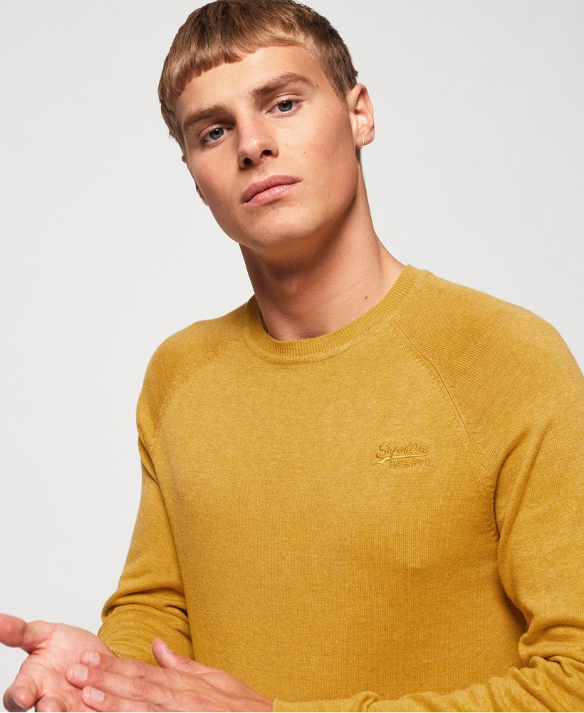 Homme Superdry Orange Label Vintage Brodé Haut à encolure ras-du-cou