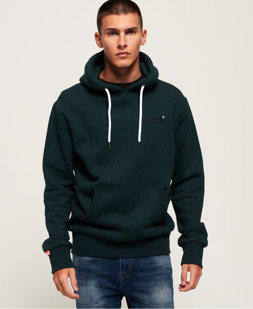 Grey Superdry Men/'s Orange Label Classic Pullover Hoodie