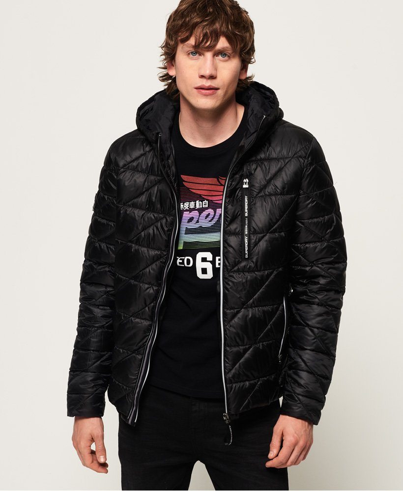 Diagonal Quilt Fuji Jacket by Superdry