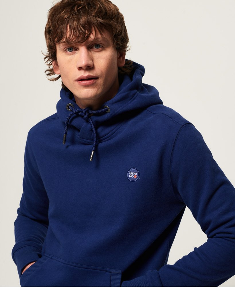 Superdry Collective Brushed Hoody Pullover Mazarine Blue All Sizes