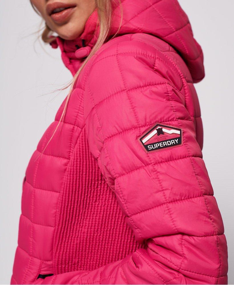 Superdry Quiltet, firkantet Fuji jakke med hætte Damer