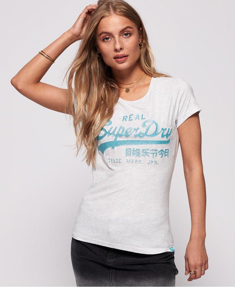 Superdry Vintage Logo Damen Glitzer-T-Shirt