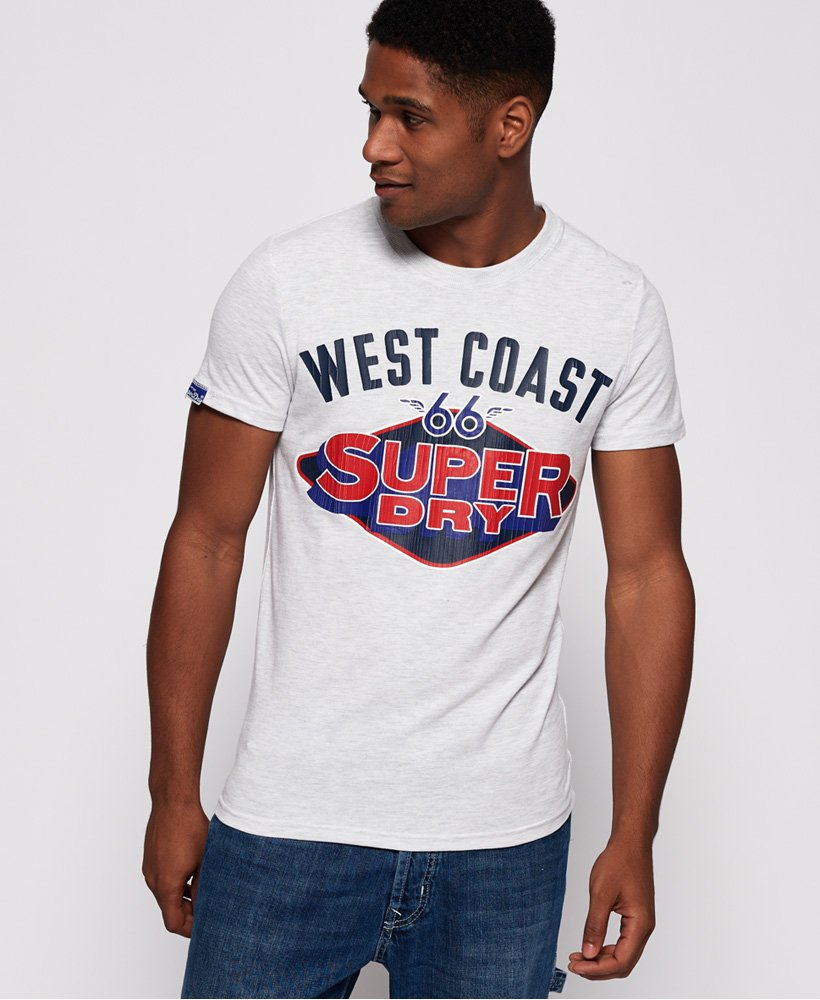 Mens Reworked Classic Cali T Shirt in Ice Marl | Superdry