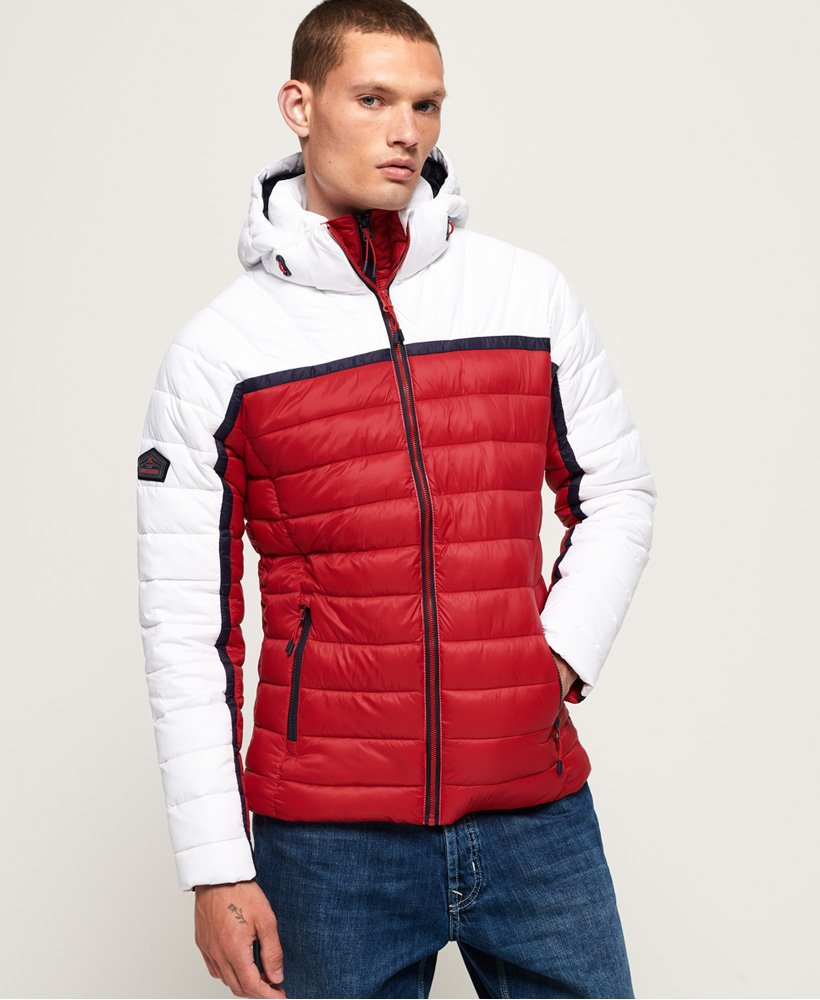 Superdry Double Zip Tweed Fuji Hooded Jacket | Bluewater