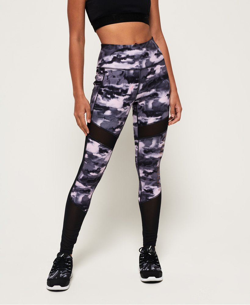 Superdry Leggings con paneles de malla Active Studio thumbnail 1
