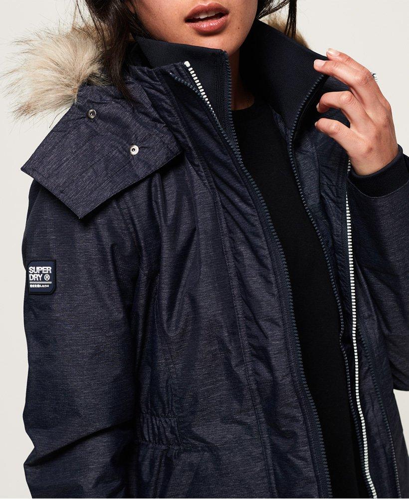 Superdry Womens Hooded Fur Winter Windattacker Sports Jacket