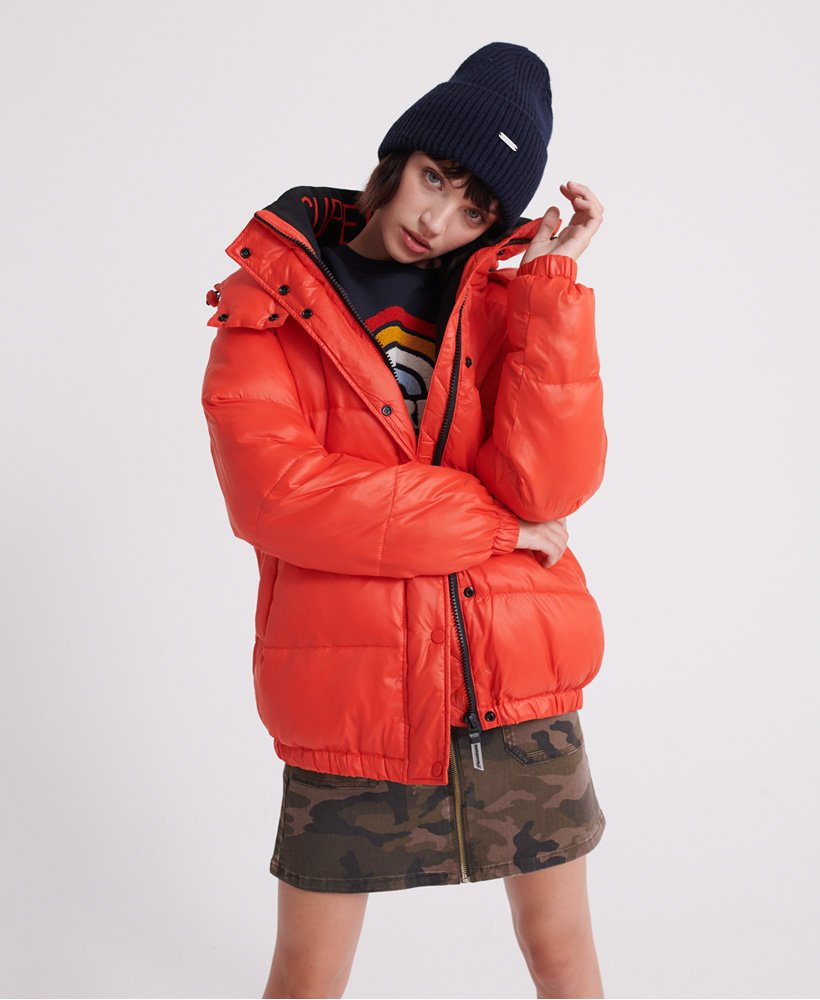 Womens Astrid Puffer Jacket in Apple Red | Superdry