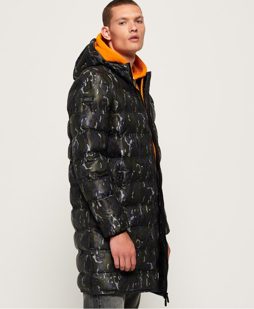 Superdry Echo Quilt Longline Puffer Coat thumbnail 1