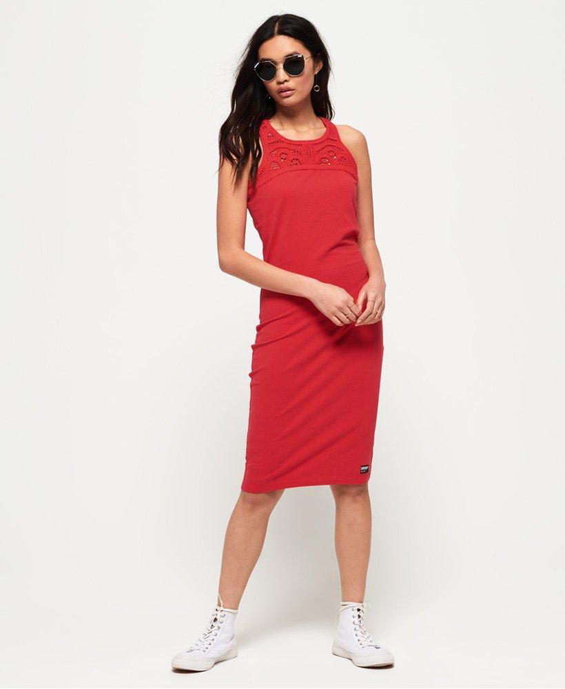 Superdry Jessie Macrame Midi Dress thumbnail 1