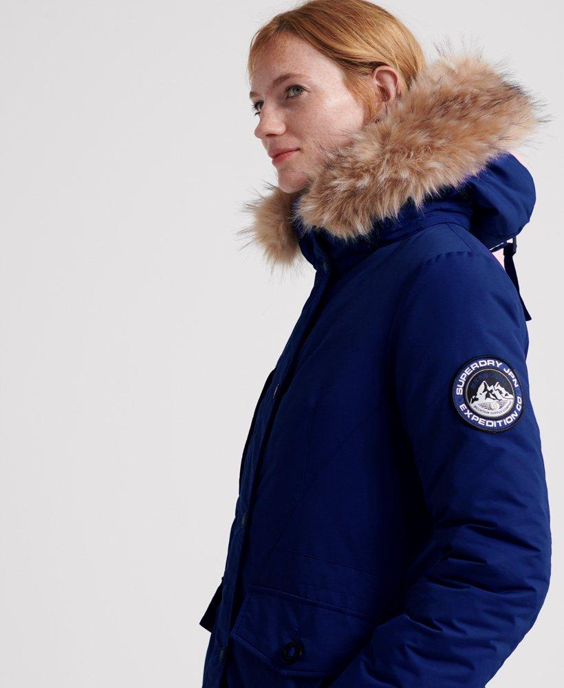 Womens Ashley Everest Parka Jacket in Cobalt   Superdry