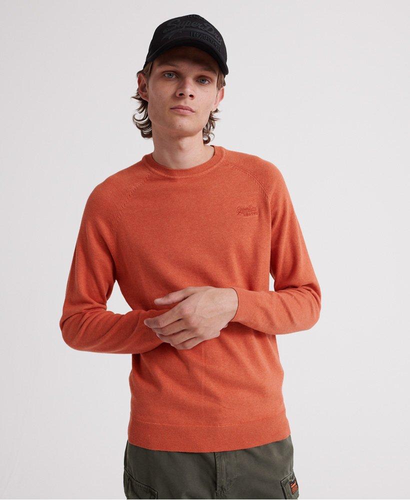 Superdry Pull ras du cou en coton Orange Label