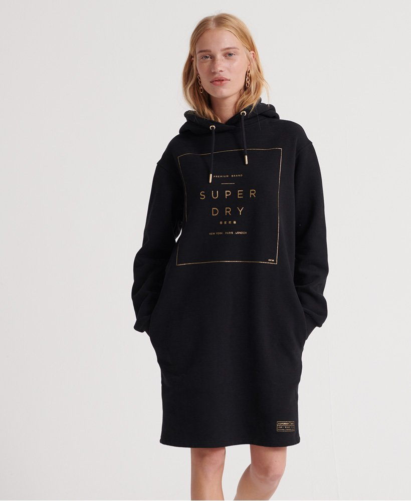 Superdry Oversized Scandi Hooded Dress thumbnail 1