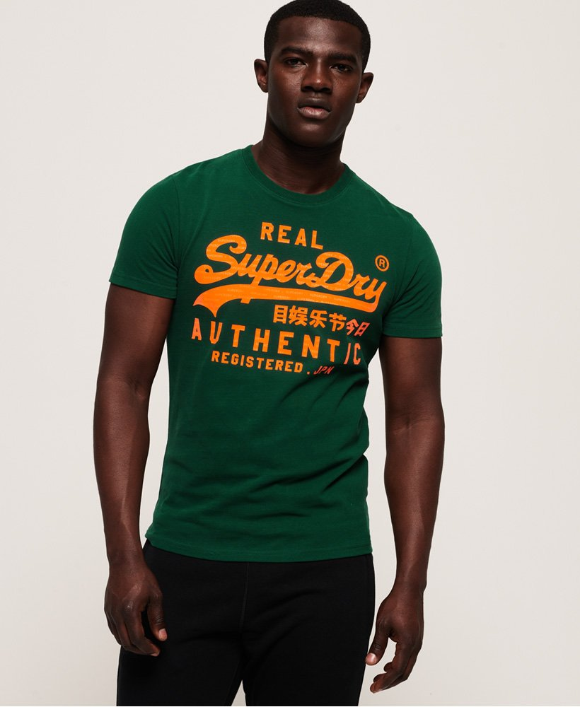 the best attitude 63ae5 14d1d T-shirt fluo Vintage Authentic da Uomo Superdry