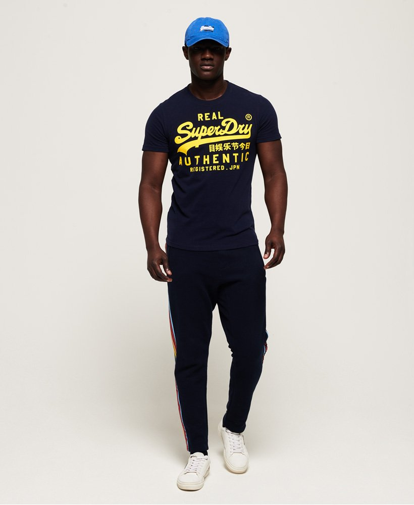 Rich Navy Superdry Vintage Authentic Fluro Tee