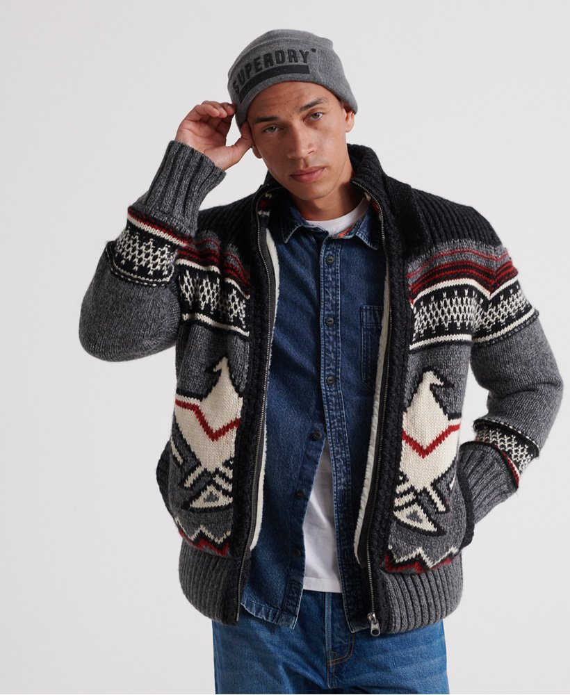 Superdry Icon Brynner Cardigan thumbnail 1