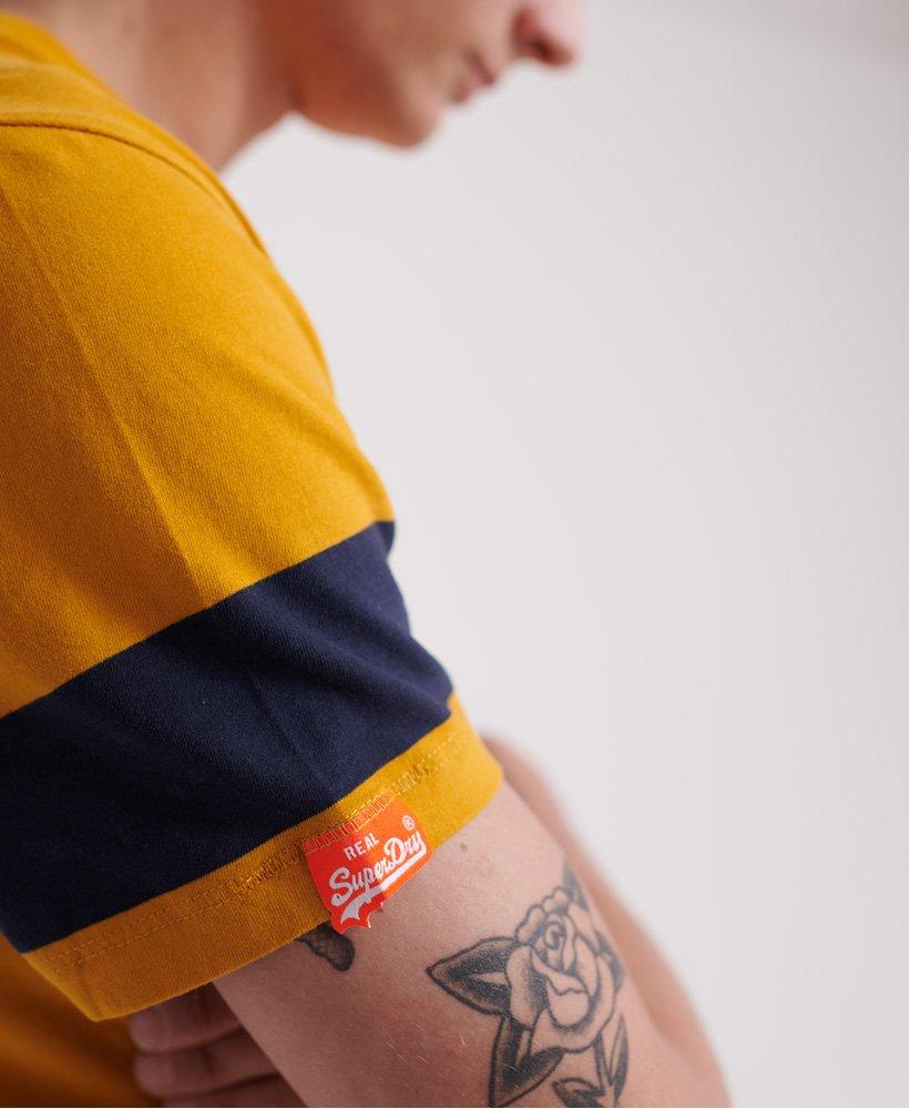 Superdry Herren T-Shirt Aus Bio-Baumwolle Mit Blockstreifen Auf Der Brust Aus De