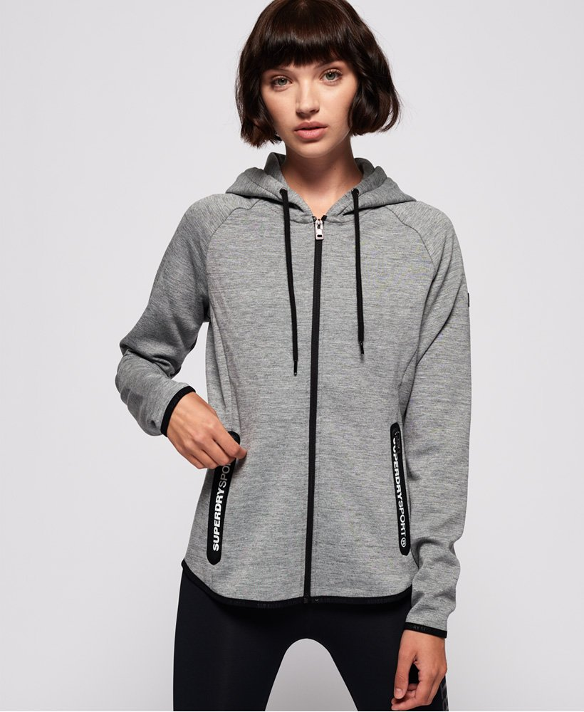 Superdry Sweat à capuche zippé SD Sport Gym Tech Sweats