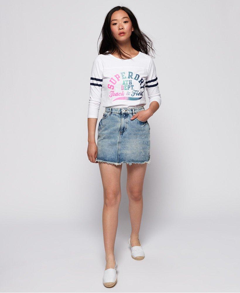 Superdry Womens Denim Micro Mini Tape Skirt
