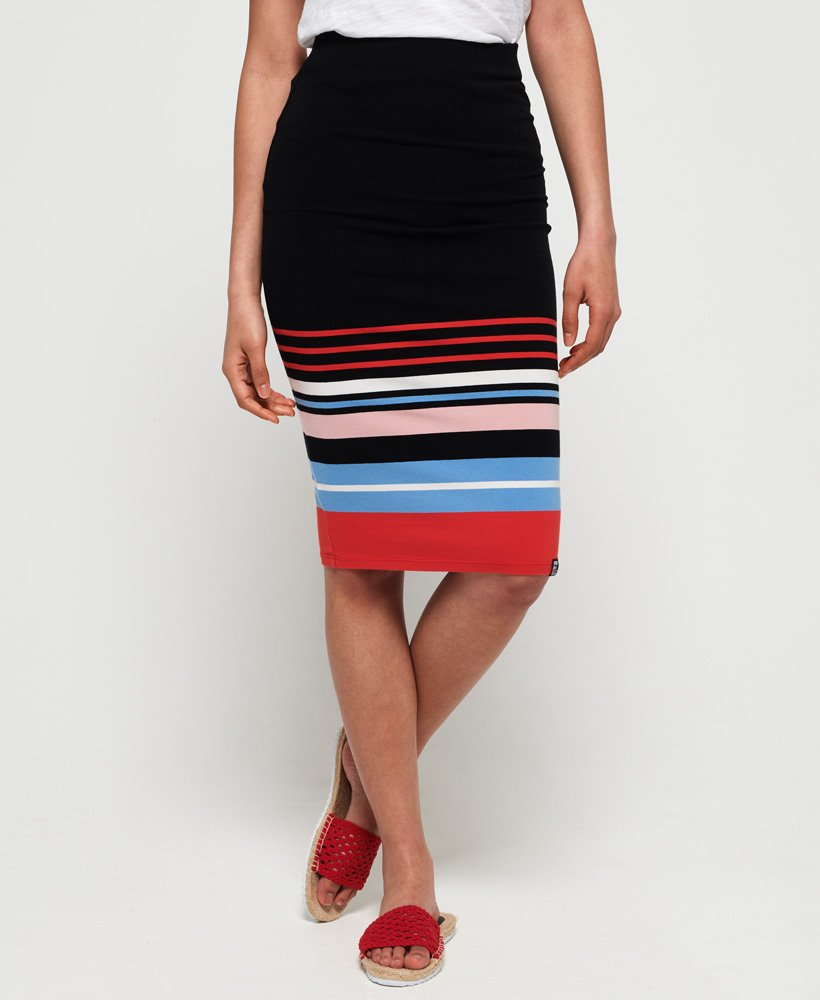 Superdry Stripe Midi Skirt thumbnail 1