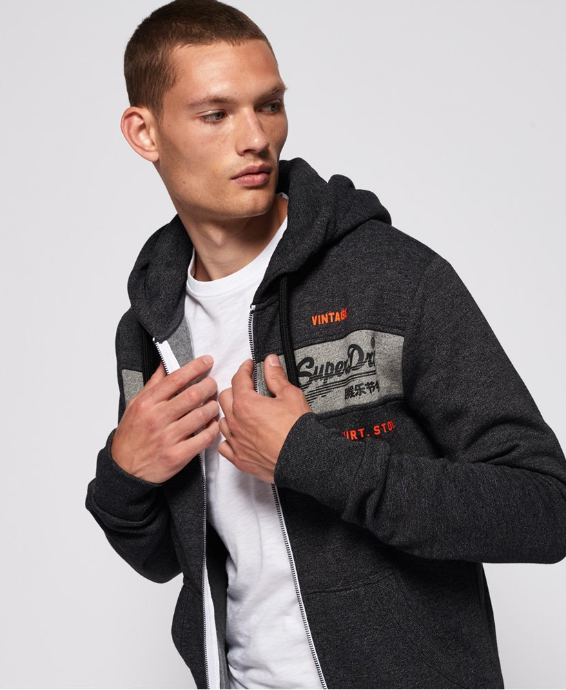 Superdry Sweat à capuche zippé avec empiècement Sweat