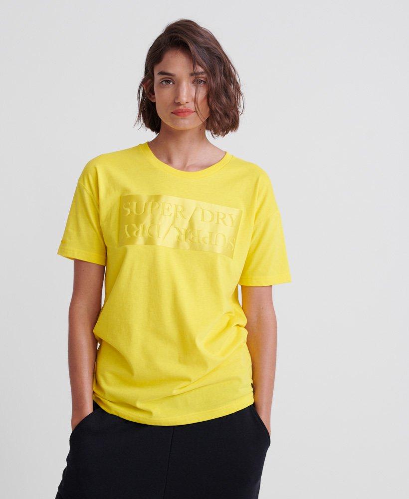 Superdry Edit Satin Portland T shirt i økologisk bomuld