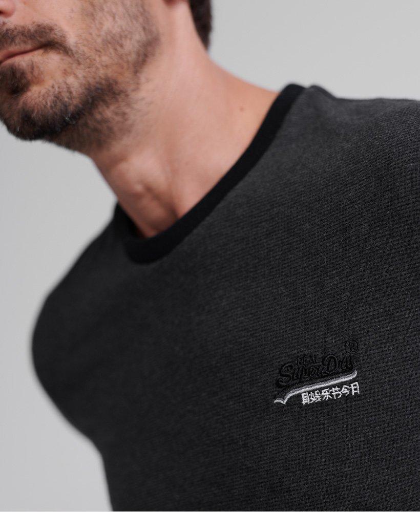 Men/'s Superdry Orange Label Cali Ringer T-Shirt Dark Nordic Charcoal Texture