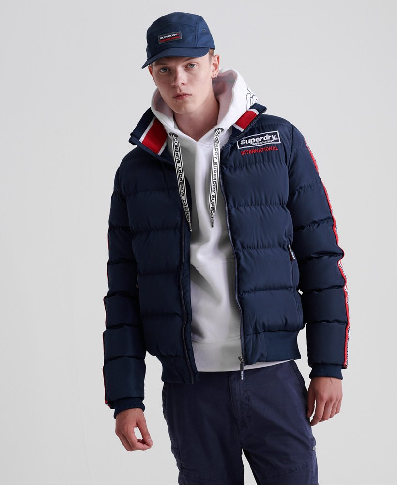 Superdry Icon Sports Puffer Jacket Chaqueta para Hombre