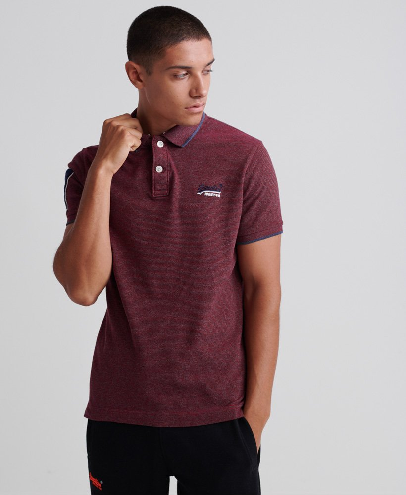 Superdry Classic Short Sleeve Pique Polo Shirt thumbnail 1