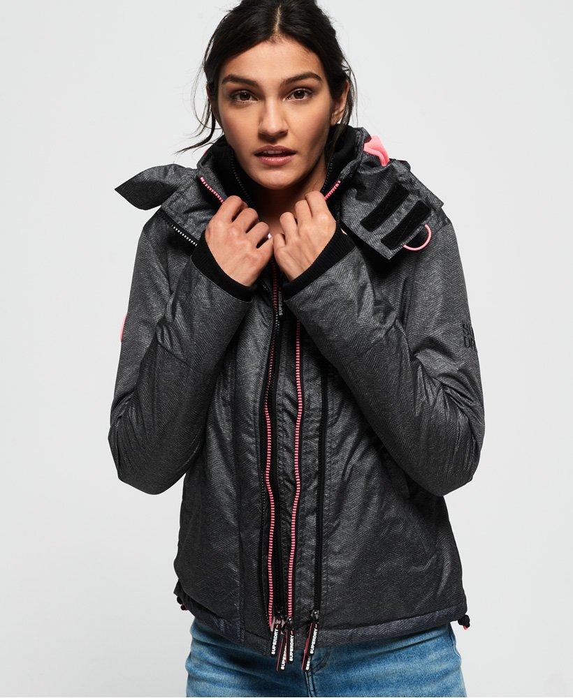 Superdry Arctic Hooded Print Pop Zip SD-Windcheater Jacket thumbnail 1
