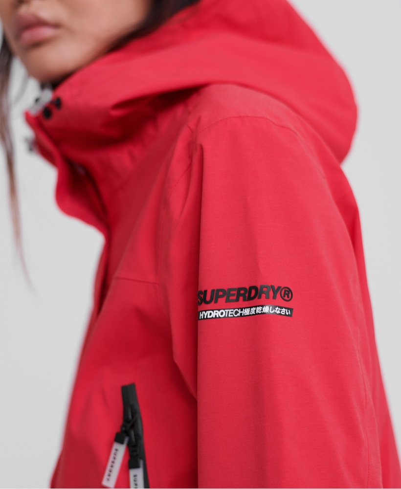 Giacca Superdry Alvia Waterproof Rosso Donna