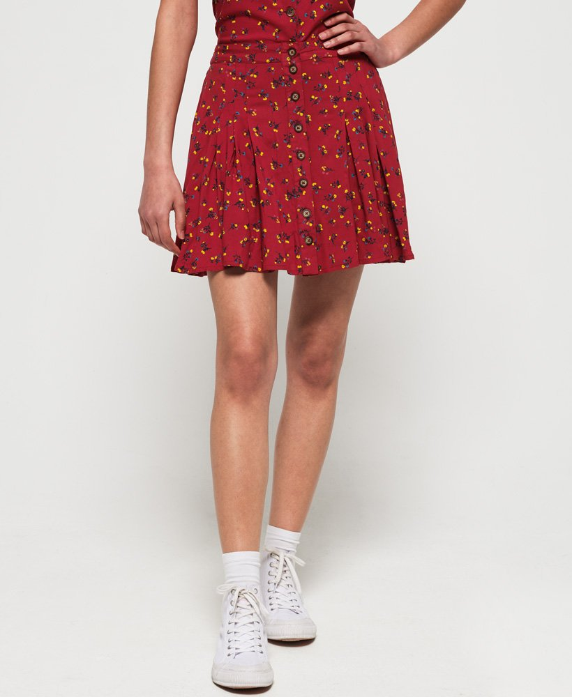 Superdry Maycee Button Skirt thumbnail 1