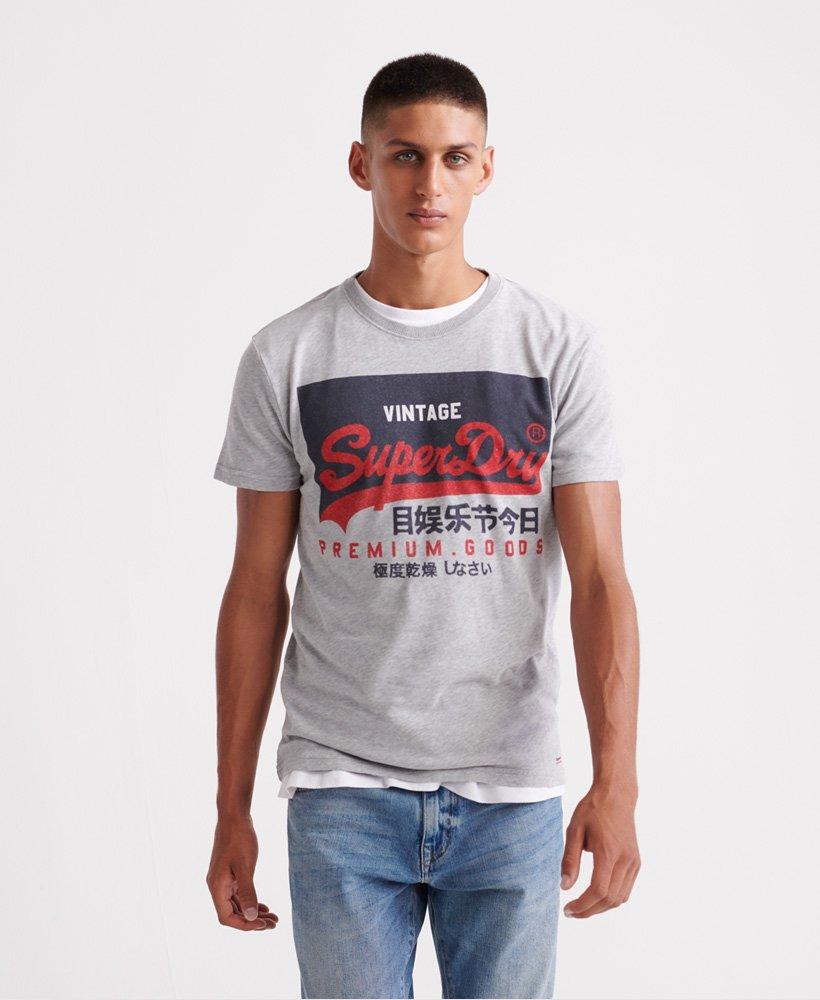 Superdry T shirt à logo Vintage en coton bio T shirts