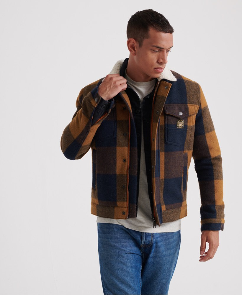 Superdry Hacienda Wool Check Jacket thumbnail 1