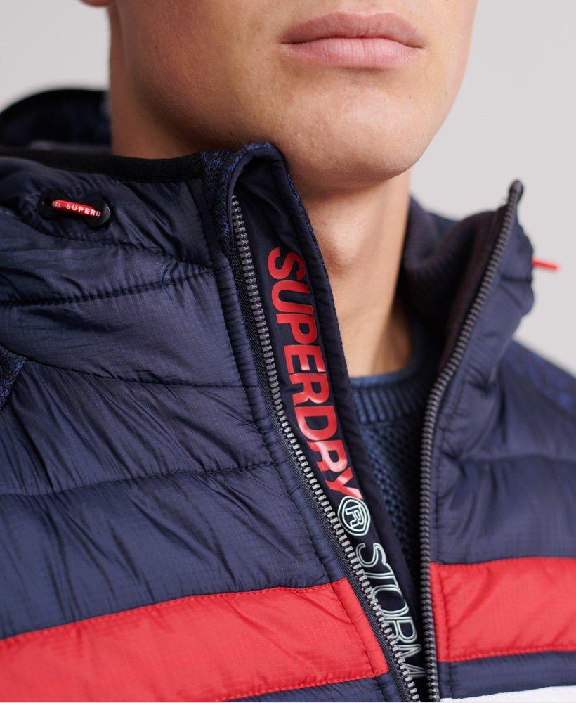 Superdry Storm Chest Stripe Hybrid Zip Hoodie Men's Hoodies