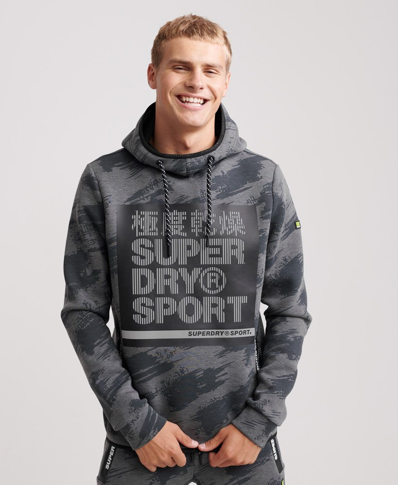 Superdry Men's Gym Tech Stretch Graphic Pullover Hoodie