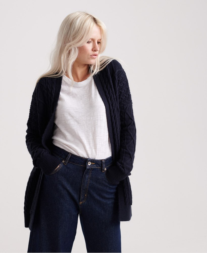 Lannah Cable Cardigan by Superdry