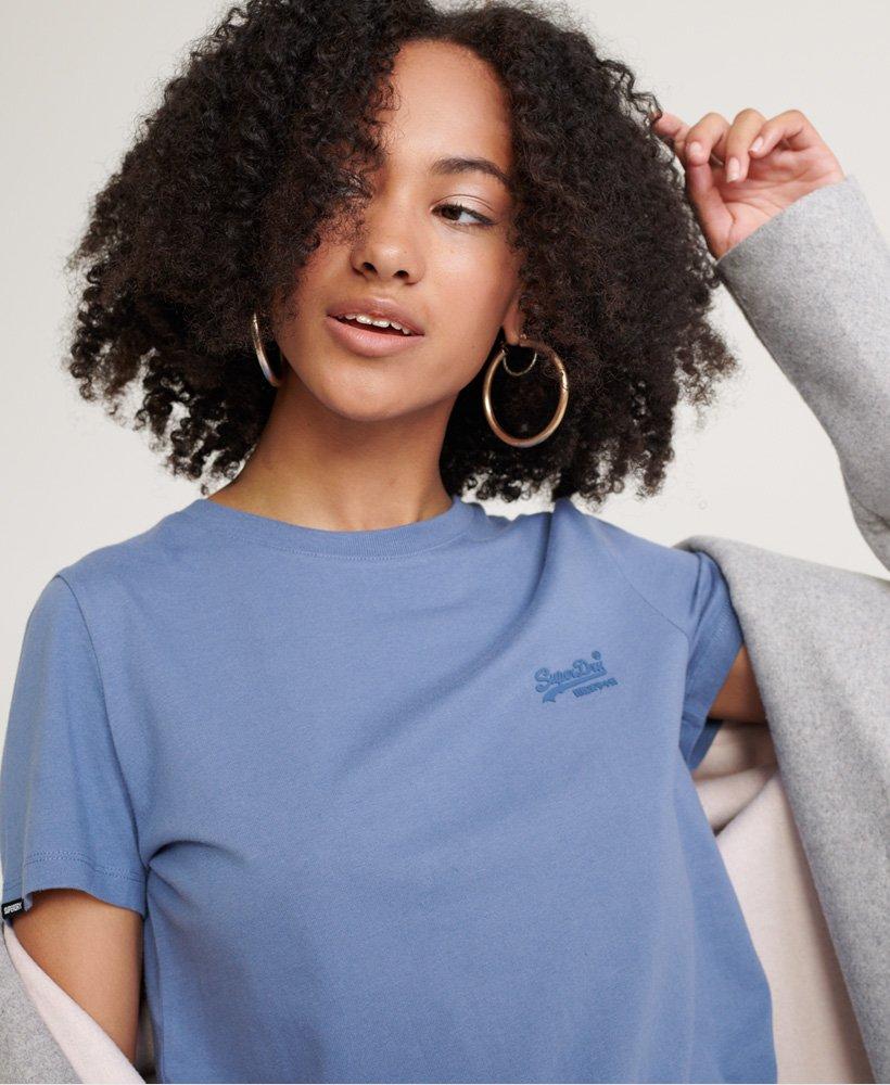 Superdry Orange Label Crew Neck Tee T-Shirt Donna