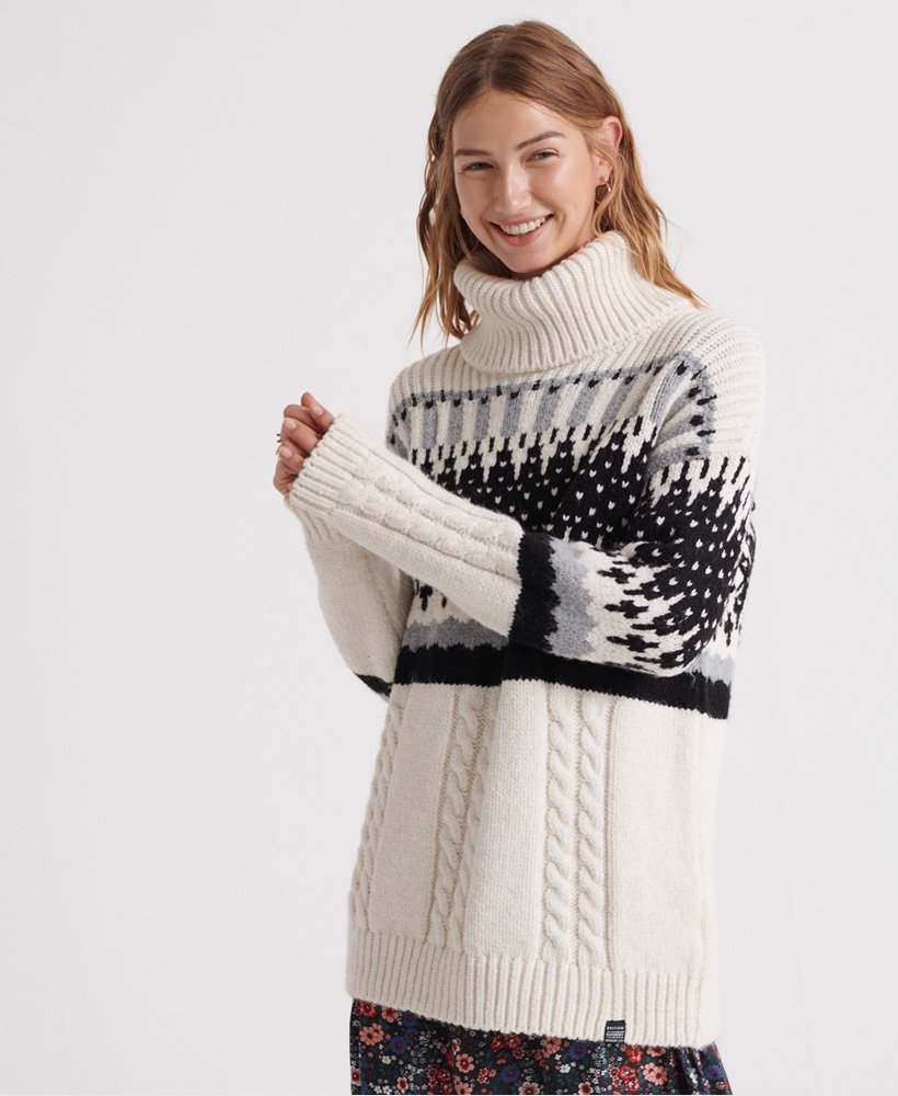 Superdry Gia Intarsia Slouch Knit Jumper  thumbnail 1