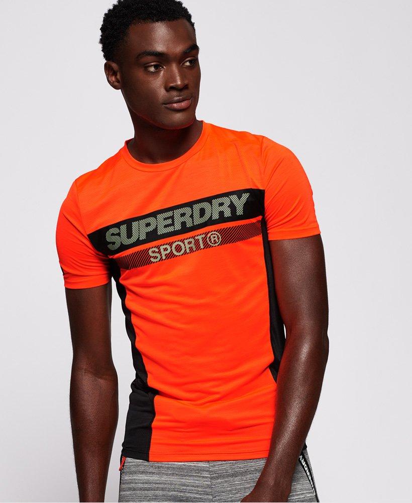 Superdry Sports Athletic Panel T skjorte Herre T skjorter