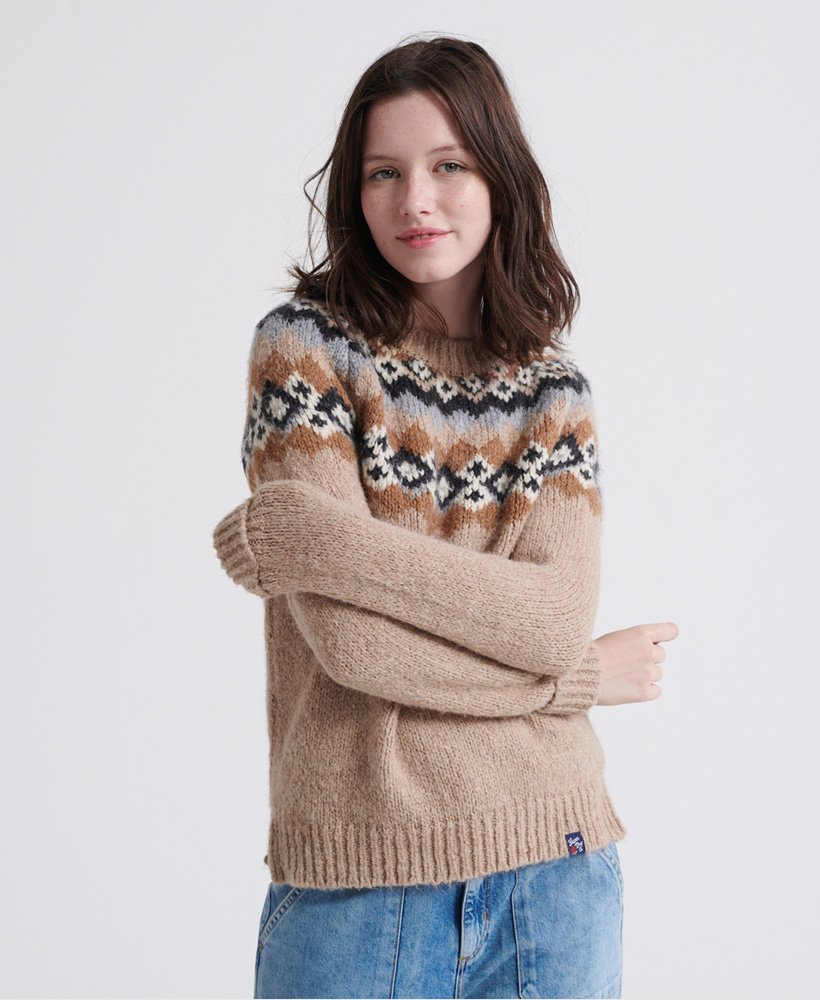 Superdry Savannah Yoke Jacquard Knitted Jumper