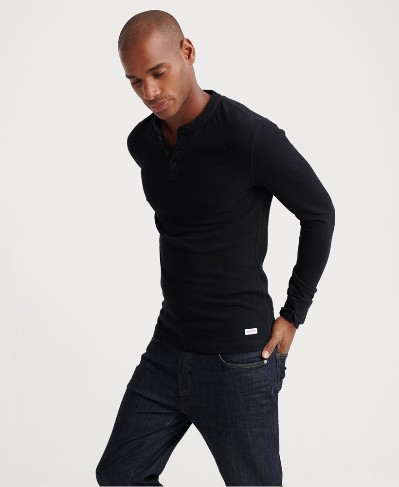 Edit Long Sleeved Henley Top by Superdry
