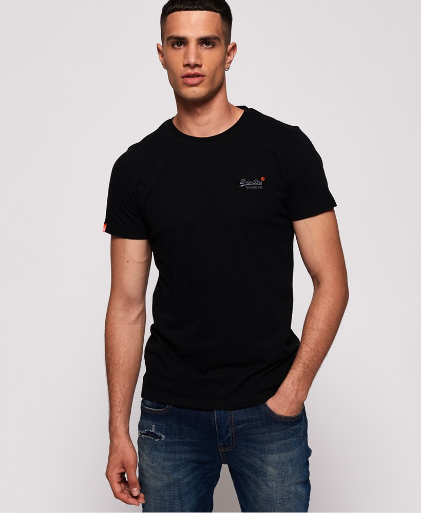 Superdry Vintage Embroidery T-shirt in Black