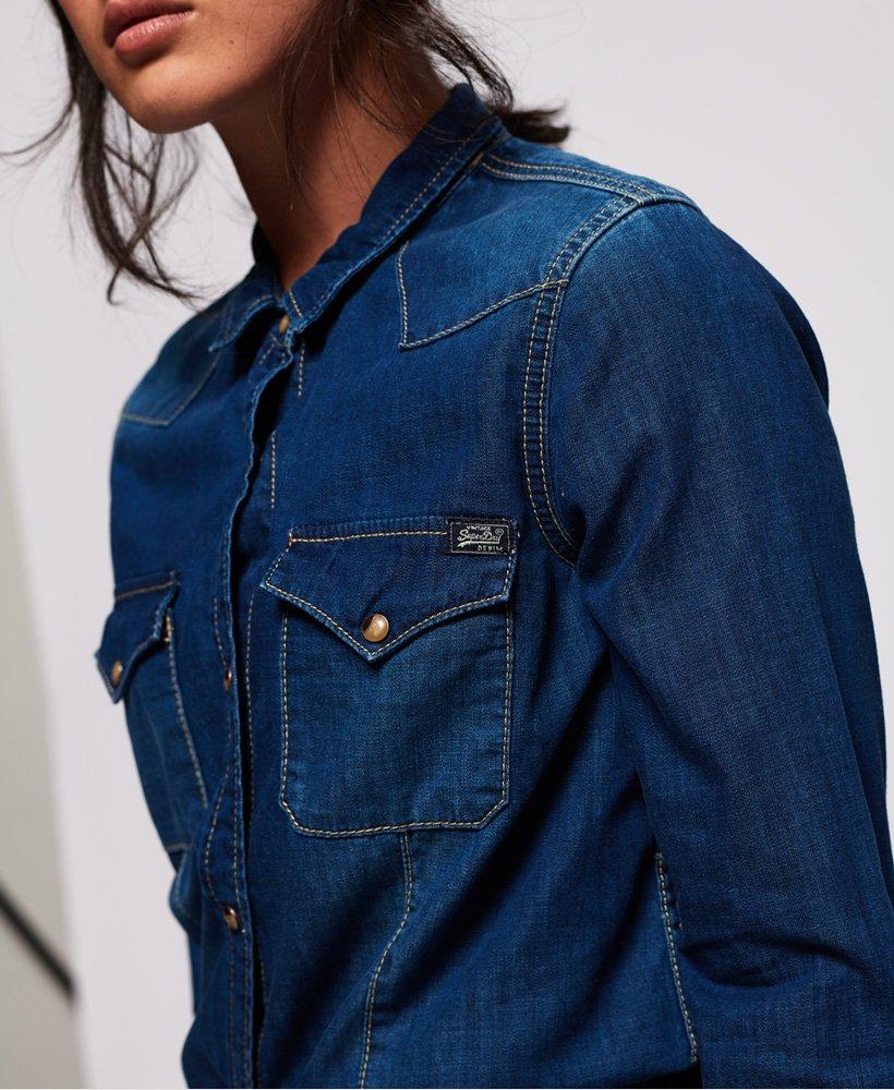Superdry Camisa vaquera Western Camisas para Mujer