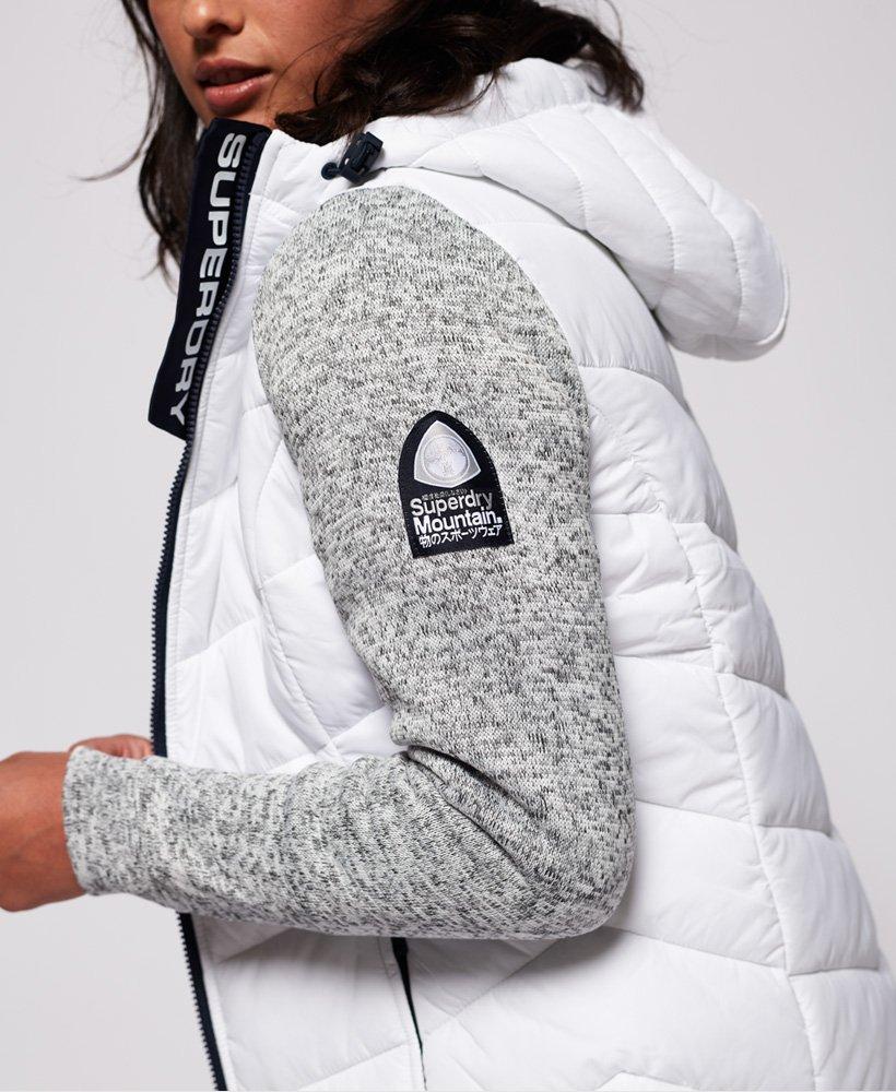 Superdry Storm Hybrid Zip Hood in Grey Slate