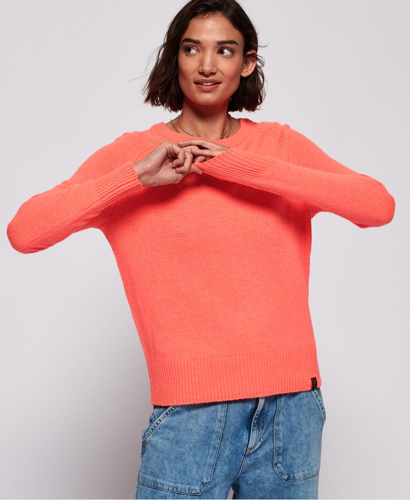 Superdry Downtown Raglan Strickpullover Damen Strickmode