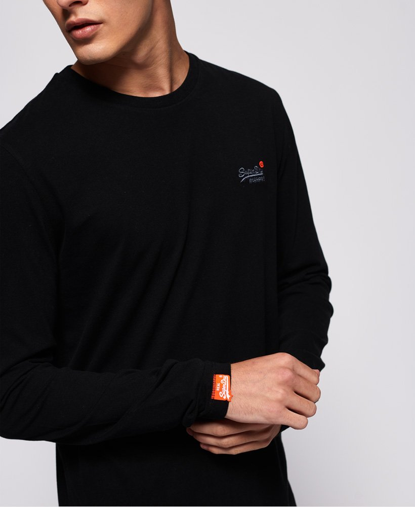 Superdry Long Sleeved Vintage Embroidery T-shirt in Black
