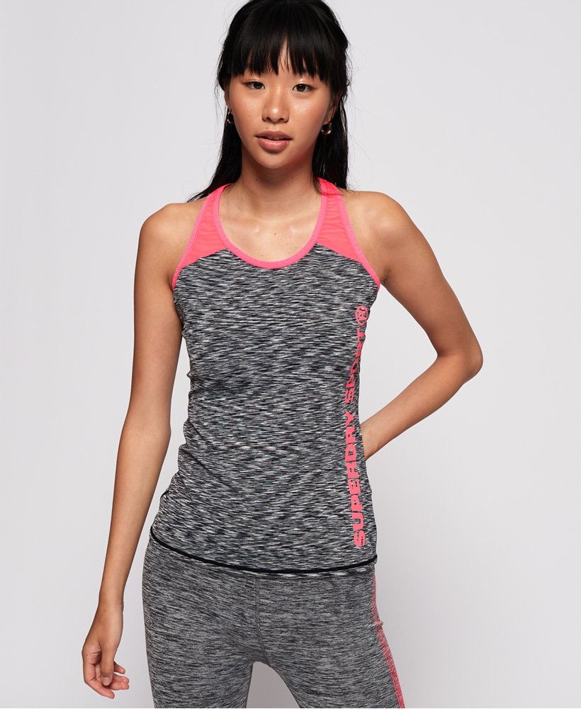 Superdry Core Fitted Mesh Panel Vest thumbnail 1