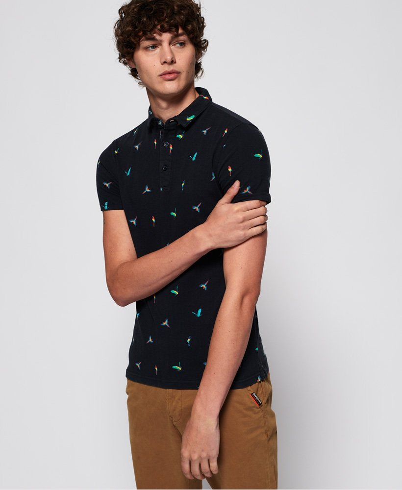 Superdry City Short Sleeve All Over Print Polo Shirt thumbnail 1